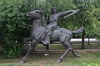 骑马将领雕塑