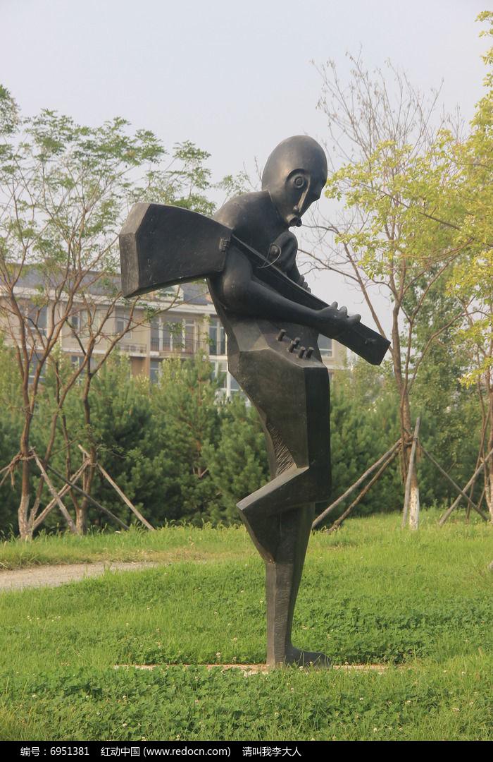 乡村音乐家艺术雕塑图片