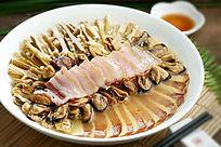 咸肉笋干蒸淡菜