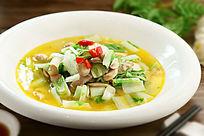 咸肉鲜蘑菜