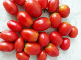 新鲜采摘的小番茄