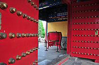 北京历代帝王庙博物馆大门与大鼓