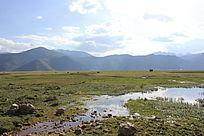 草原小溪流