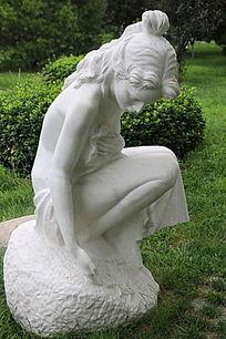 俄罗斯美女雕像春天