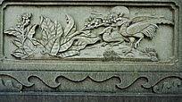 护栏花鸟装饰画