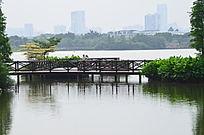 湖上的小桥风景图片