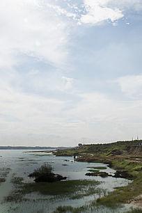 露天矿生态园区矿湖风光