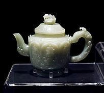 明代青玉寿字茶壶
