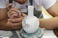 手工瓷器作画