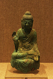 唐朝鎏金铜佛像