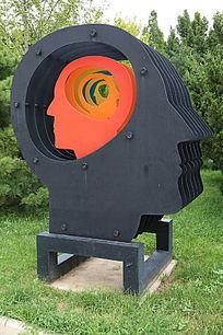 铁艺造型片装大脑
