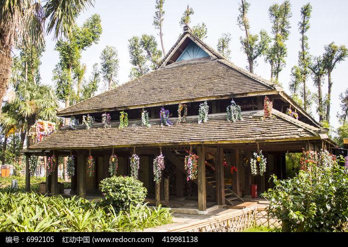 傣族房屋建筑图片