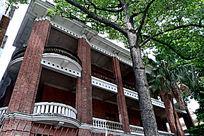 红砖欧式建筑