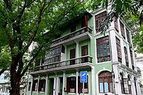绿色欧式建筑