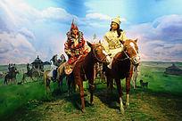 蒙古族游牧生活模拟场景