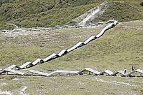 石卡雪山木阶梯