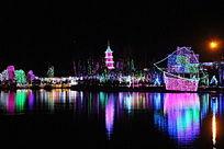 亚滦湾灯光节夜景