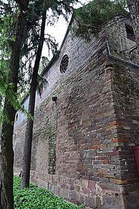 斑驳的古建筑墙面-建筑摄影