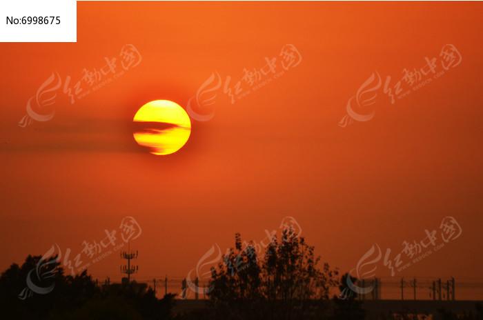 红太阳风光图片