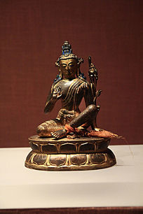 吐蕃分治时期铜镀金虚空藏菩萨像
