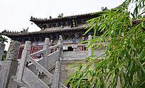 竹林里的藏经阁-建筑摄影