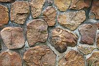 红色石块背景墙