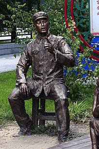 雕塑男人物像