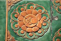 古典花形琉璃背景