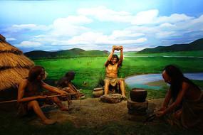 哈克先民在石器时代生活场景