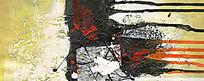 酒店抽象画 色块抽象画 无框画抽象画