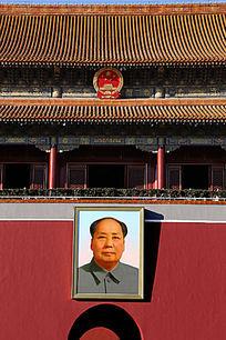 天安门上的毛主席画像