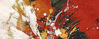 涂鸦抽象油画 现代风格 简约风格