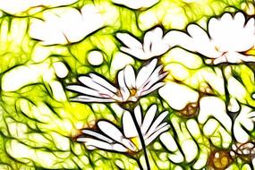 菊花儿装饰画