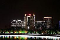 武汉中南医院湖光夜景