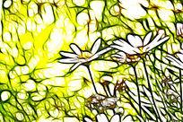 艺术画菊花儿