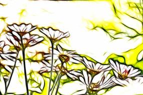 装饰画菊花儿