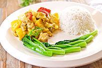 咖喱泰式鸡肉饭