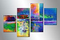 客厅无框画 现代简约 组合抽象画