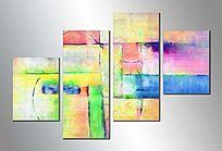四联抽象画 装饰画 极简风格画