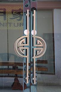 门把手铜雕花