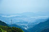 俯瞰的城市风景