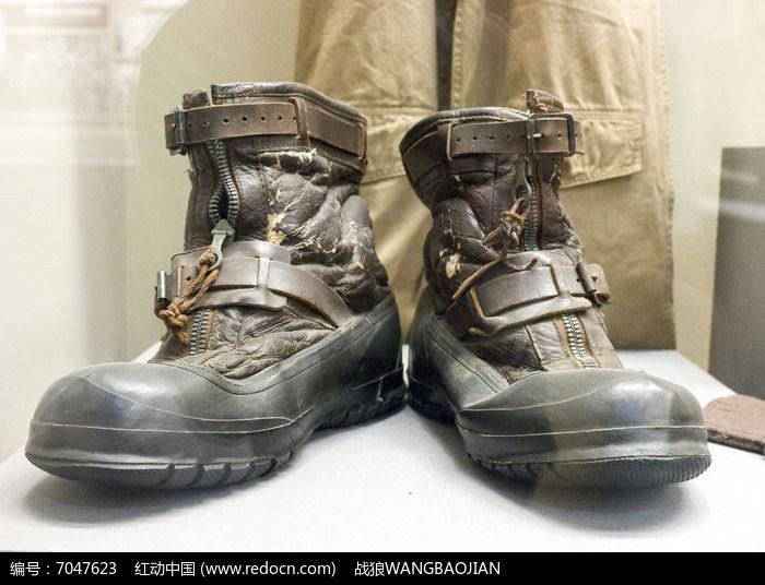 飞虎队员使用过的靴子展品图片