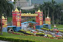 公园城堡雕塑艺术风景图片