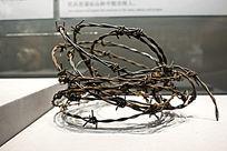 监狱围墙铁蒺藜展品