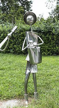 敲手鼓的人艺术雕塑雕刻