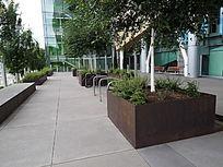 艺术锈板树池