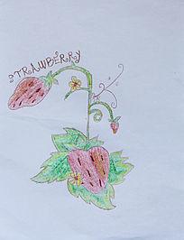 线条画草莓