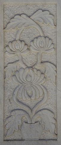 千山无量观碧霞殿围栏柱宝坛与花石雕