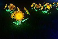 太阳花形灯