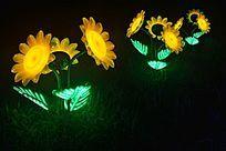 太阳花形状的灯光